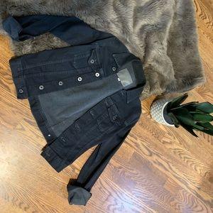 AG black denim jacket